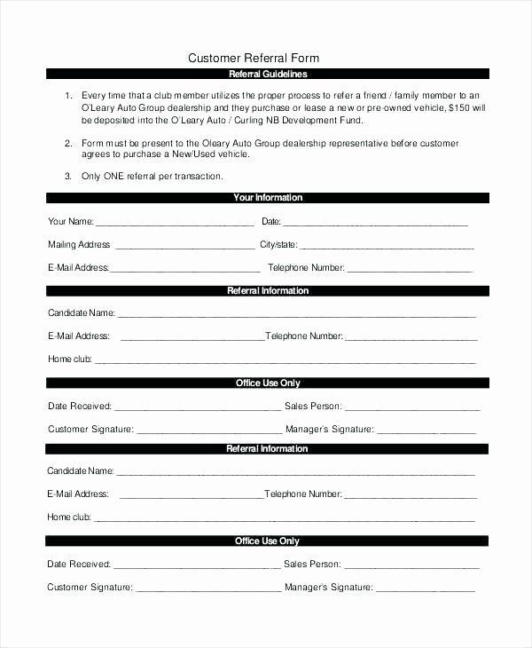Medical Referral Form Template Beautiful Physician Referral Form