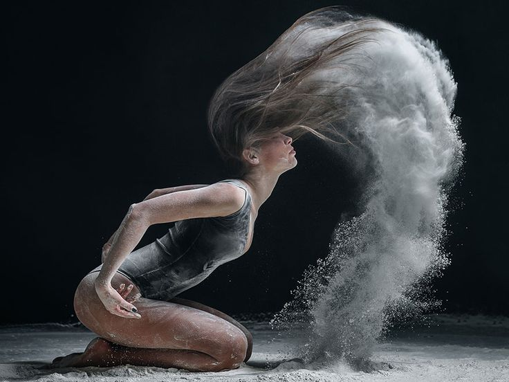Studio-dance photographer Alexander Yakovlev makes his images of professional dancers come alive by adding dynamic elements like exploding flour.