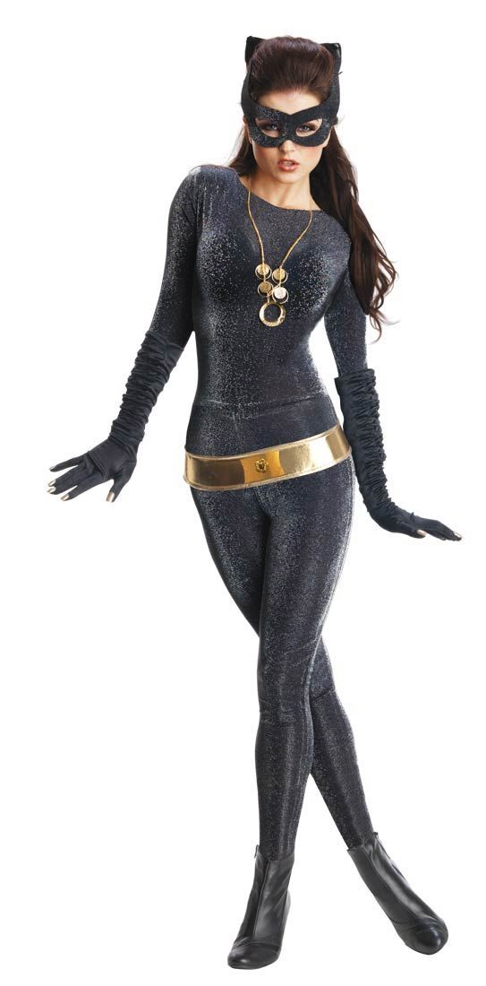 Super Deluxe  Julie Newmar Catwoman Costume - Batman Costumes.  Meow! Black & Gold Halloween Glam Gala Party Decorating Ideas