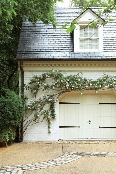 flowers on a garage via: Cape Cod Collegiate