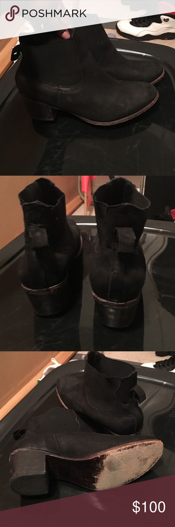 Ankle booties all black size 12 women's‼️ Stylish Ankle booties from Nordstrom Rack aprox heel 2inch or so Great condition. Size 12 women's. Located in Brooklyn for pickups‼️ Melrose & Market Shoes Ankle Boots & Booties