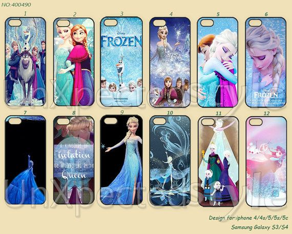 Disney frozen Phone Cases, iPhone 5 Case, iPhone 5S/5C Case, iPhone 4/4S Case, Samsung Galaxy S3 S4 S5 Note 2 Note 3-400490