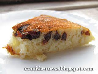 Comida Russa de Verdade: Mannik (pudim de semolina)