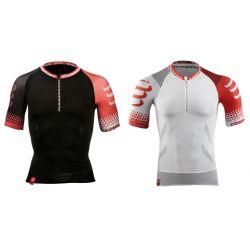 Compressport koszulka do biegania Trail Running biała