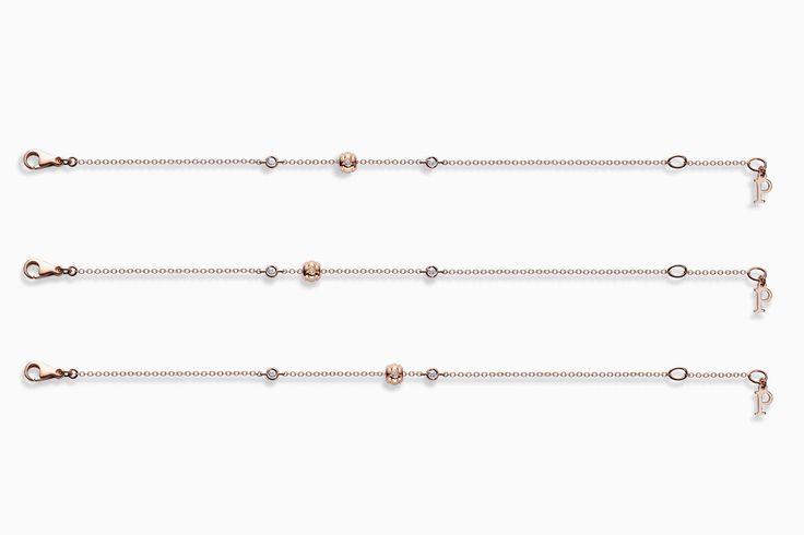 Браслеты из розового золота с бриллиантами