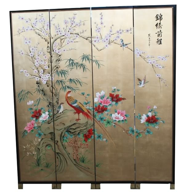 Best Folding Screens Images On Pinterest Folding Screens - Cherry blossom room divider screen