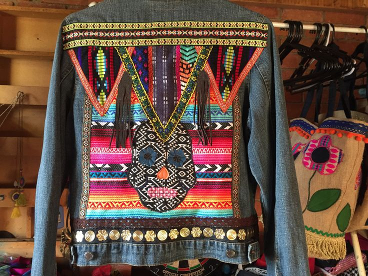 A personal favourite from my Etsy shop https://www.etsy.com/au/listing/538850857/embellished-denim-jacketbohemianhippie