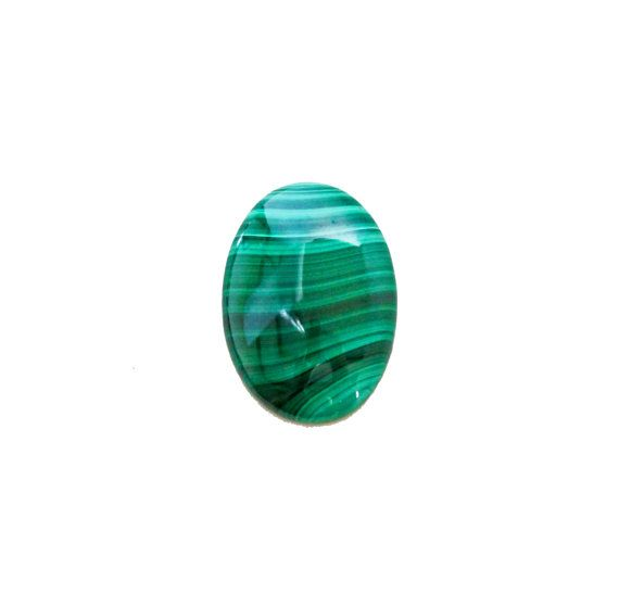 Malachite oval cabochon 24.90 carat by SARAHHUGHESfinegems on Etsy