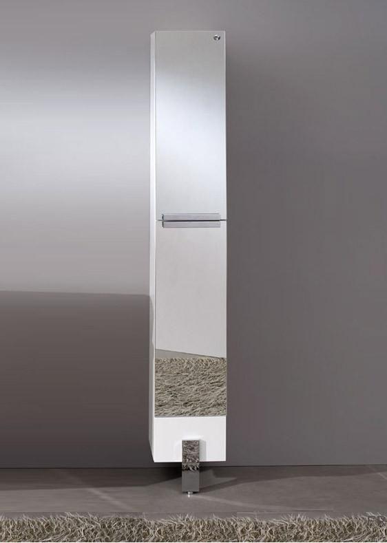 Excellent Fresca Adour Mirrored Bathroom Linen Side Cabinet Bathroom Download Free Architecture Designs Viewormadebymaigaardcom