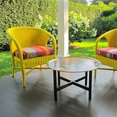 You Can Use Spray Paint To Perk Up Any Wicker Furniture. Part 16