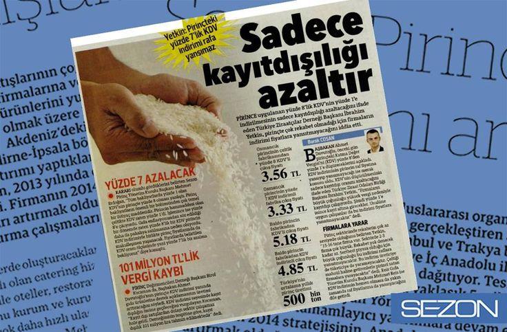 Yönetim Kurulu Başkanımız Mehmet Erdoğan 'ın KDV indirimine ilişkin açıklaması. (Hürriyet Gazetesi)