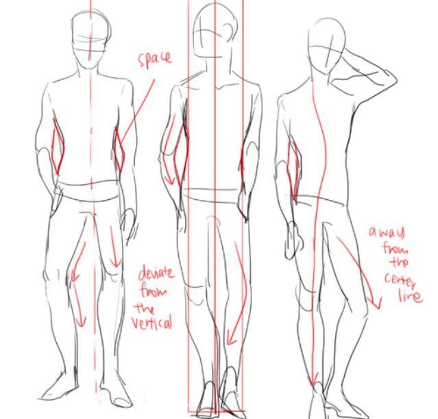 118 besten standing poses bilder auf pinterest for Schaukelstuhl zeichnen