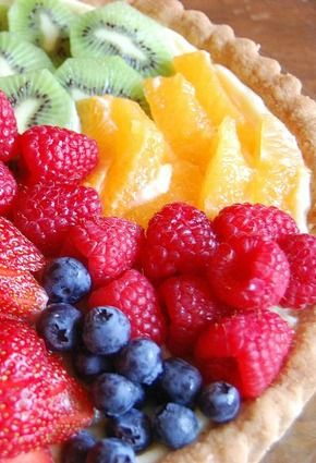 Ina Garten's Fresh Fruit Tart Recipe. One of my favorite desserts! This dessert has a delicious crust, creamy custard filling, and you can top it with whatever fresh fruit you have.