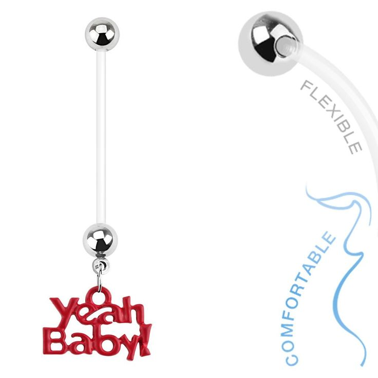 'Yeah Baby' Pregnancy Belly Ring