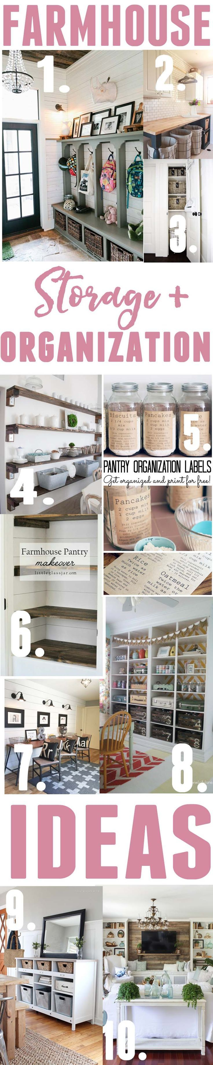 Farmhouse Storage and organization ideas; 10 projects featuring farmhouse…