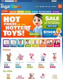 Ce template e-commerce Clicboutic aux couleurs vives est parfait pour la vente de jouets en ligne