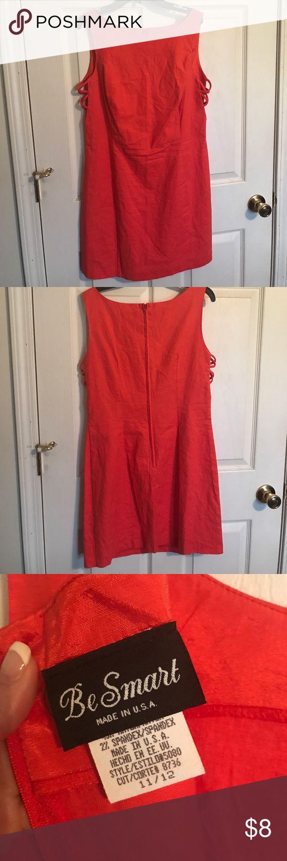 Be Smart Dress Orange Cute orange dress Sz 11/12, linen spandex mix, never worn be smart Dresses