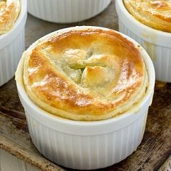 Oh-So-Easy Broccoli Cheddar Pot Pies with Puff Pastry Crust