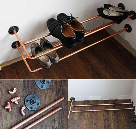 die besten 25 schuhaufbewahrung ideen auf pinterest schuhgestell diy schuhregal und. Black Bedroom Furniture Sets. Home Design Ideas