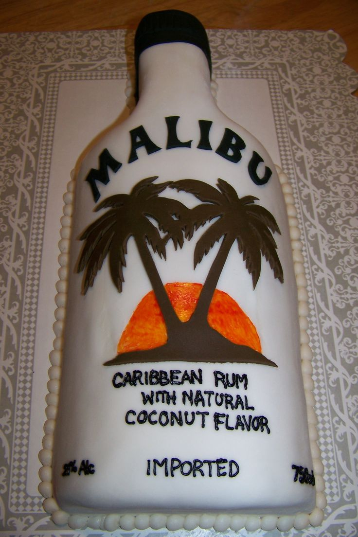 Malibu Rum Bottle Cake Vanilla Cake With Buttercream