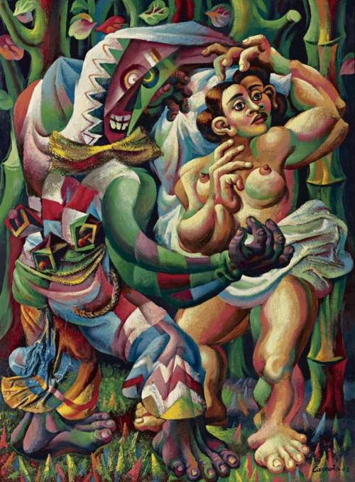 Danza Afrocubana, Cuba - Mario Carreño (1943)  http://www.artexperiencenyc.com/social_login