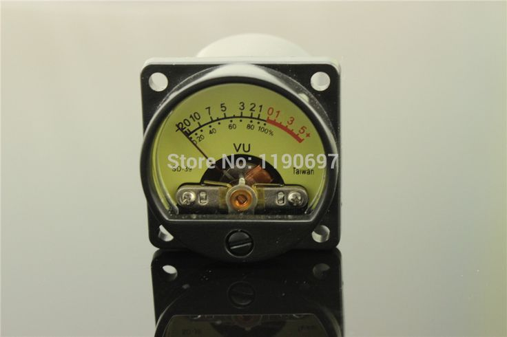 1Piece Taiwan 500VU Panel VU Meter High Precision Audio Level Meter 6-12V Audio Level With Warm BackLight Free Shipping