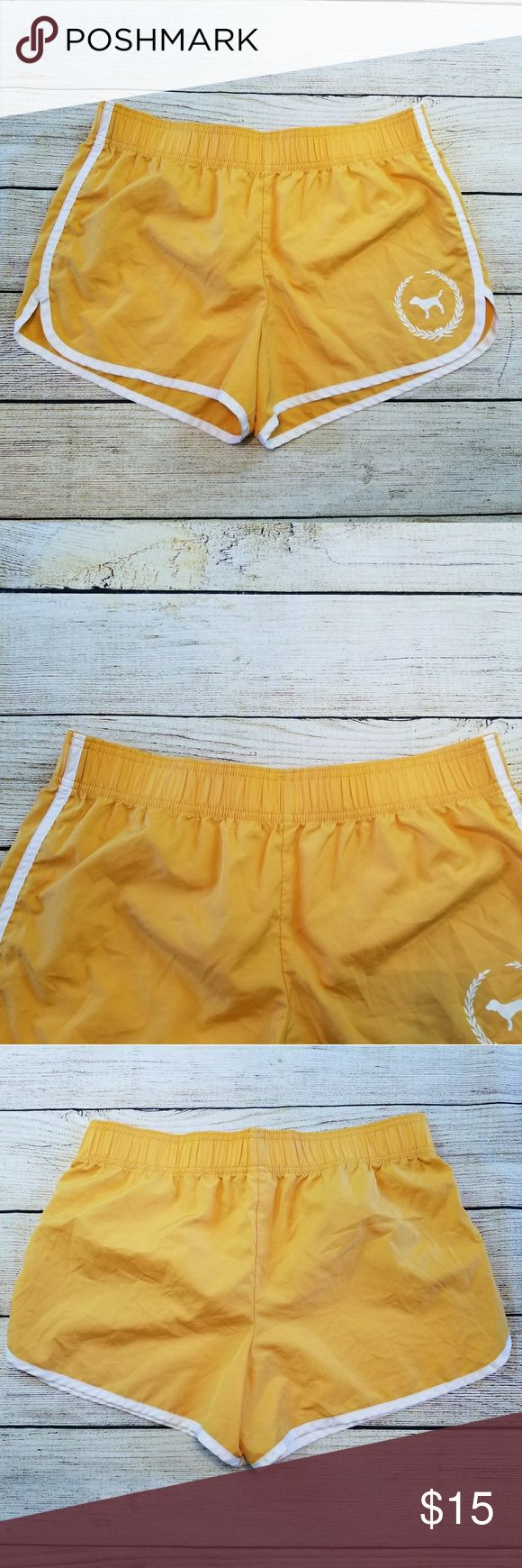 Victoria secret pink shorts Cute pink shorts. Gold  and white. Lightweight,  100% polyester.  Size small new without tags. pink  Shorts