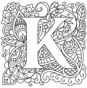 Mendhika Letter K Design Bought 2016