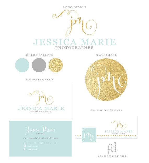 Une belle association de couleurs et de formes : mint, gold & calligraphie !  Cliquez sur le lien pour personnaliser ce logo au nom de votre entreprise et bénéficier d'un branding professionnel.