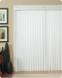 "Vertical blinds are ideal for large windows and doors (such as patio doors), but can be used anywhere as an alternative to curtains or drapes. Vertical blinds have wide slats (up to 4"" wide) that can be angled or closed to control light and privacy."