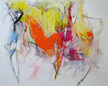 Saatchi Online Artist: Mary Ann Wakeley; Mixed Media, Painting LEnvers