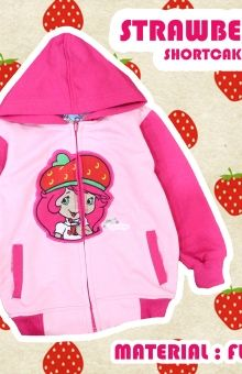 Jaket anak strawberry shortcake