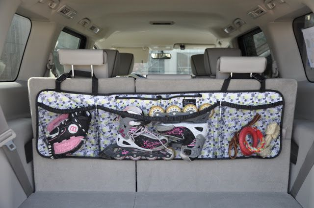 WonderFull Bag for organizing the 'trunk' of your van (hangs over the back row head rests)Nx