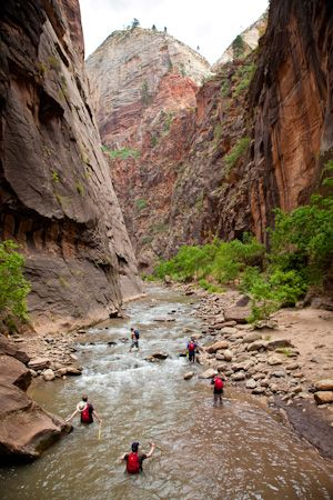 Great information about hiking the Narrows in Zion National Park, Utah.   That looks Awesome!