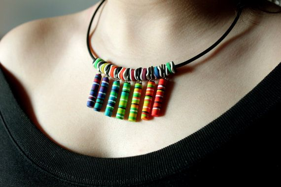 Reiki Polymer Clay Necklace by SilviaOrtizDeLaTorre on Etsy