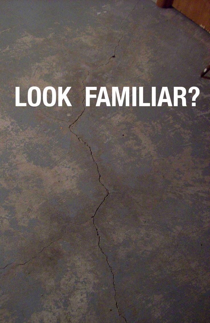 painted basement floor. PROBLEM  Crack in basement slab SOLUTION Repair the crack permanently using CrackWeld Floor Oltre 25 fantastiche idee su Vernice per pavimento da seminterrato