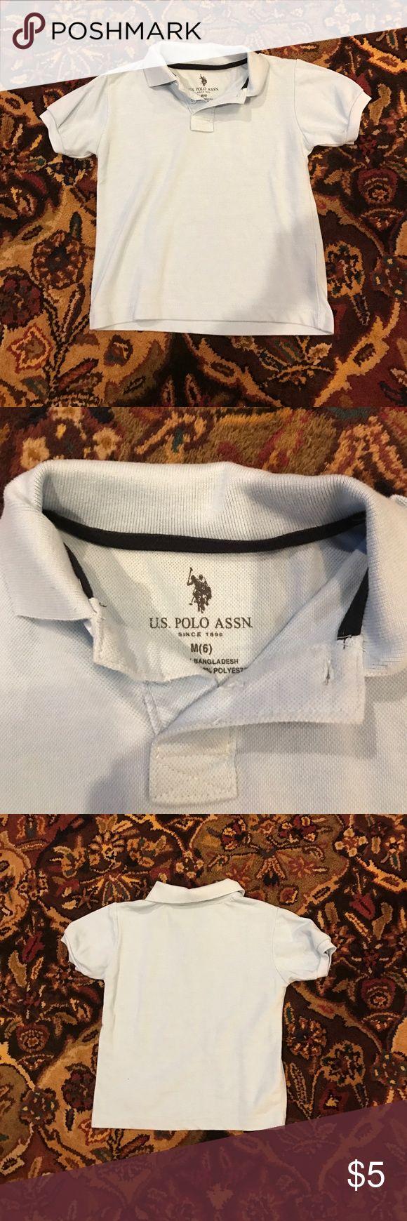 Boys pale blue polo 6 euc Boys light blue us polo association polo size 6 - excellent condition us polo association Shirts & Tops Polos