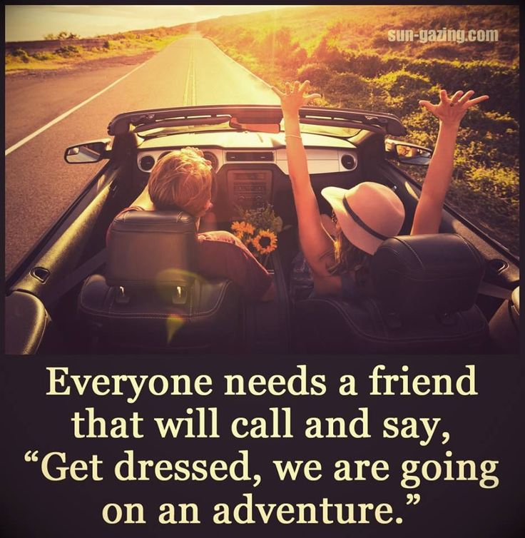 Everyone Needs That Friend Who...