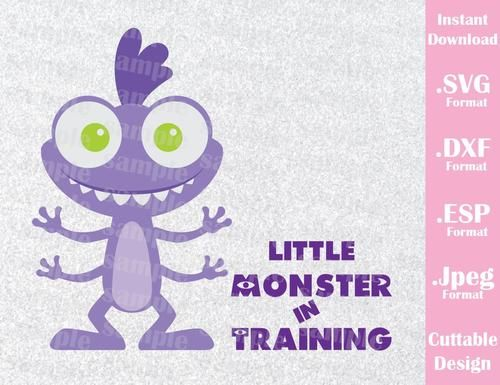 Baby Randall Little Monster in Training Disney Inspired from Monster Inc. Cutting File in SVG, ESP, DXF and JPEG Format