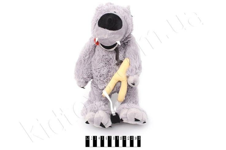 Вовк (муз.) 40 см. F-383040, детские товары украина, игры животные онлайн, игрушка, мягкие игрушки под заказ, магазин кукол, бесплатные игры для девочек
