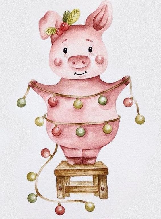 Свинки на открытках, фотографию прикольную открытки