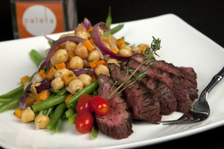 This Weeks Recipes for Weight Loss: 3 More Easy Dinners Under 500 Calories: Vitamin G    Balsamic Grilled Grass Fed Skirt Steak With Haricot Vert and Garbanzo Bean Salad   Lemon Herb Grilled Chicken With Seasonal Lentil Salad   Grilled Quinoa Black Bean Burger With Baked Sweet Potato Fries and Dilled Zucchini Pickles
