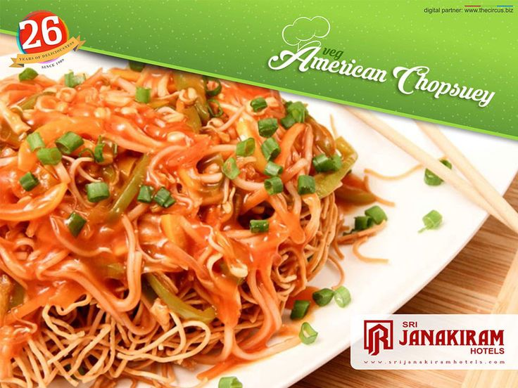 Veg American Chopsuey , is a tantalizing noodles with hot gravy on top, only at Srijanakiram Hotels.  Follow us on Facebook - /srijanakiram #noodles‬ ‪#srijanakiram‬ ‪#veg‬ #American‬ ‪#chopsuey‬