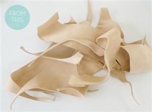 How To: Make a DIY Leather Bowl from Scraps!