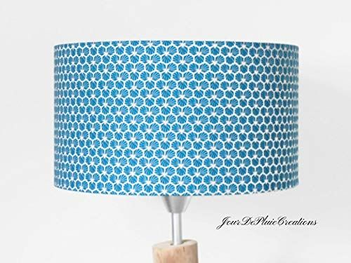 abat jour g om trique riad bleu canard luminaire diam tre. Black Bedroom Furniture Sets. Home Design Ideas