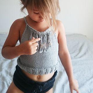 Kids Crop Top /Ravelry Knitting Pattern