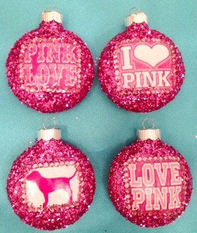 Victoria's Secret PINK ornament set. OMG♥♥♥ (:(:(:(: