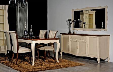 Casa Ampia-τραπεζαρία venetto No3-τραπέζι-καρέκλα-μπουφές-patina-dining table-έπιπλα-διακόσμηση σπιτιού-ιδέες και λύσεις