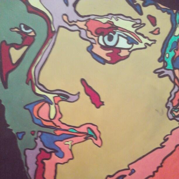 "@slinky_sleer's photo: ""#clockworkorange #painting. #mypainting"""