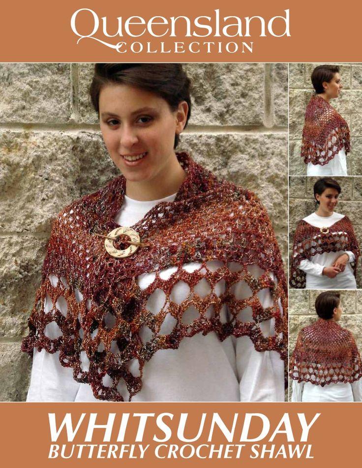 Crochet Butterfly Shawl Free Pattern : Butterfly Crochet Shawl - Free Crochet Pattern ...